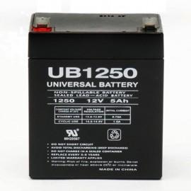 12Volt 5 ah Fire Alarm Battery replaces 4.5ah Yuasa NP4.5-12