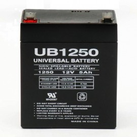 12 Volt 5 ah Fire Alarm Battery replaces 12v 4.5ah Power-Sonic PS-1250