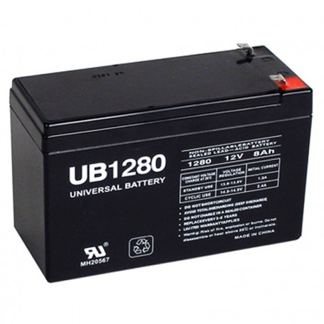 12 Volt 8 ah UB1280 Fire Alarm Battery replaces 12v 7.5ah