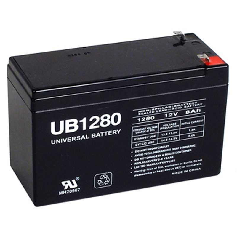 12 volt 8 ah fire alarm battery replaces 12v 8ah elk 1280. Black Bedroom Furniture Sets. Home Design Ideas