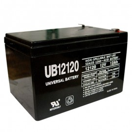 12 Volt 12 ah Fire Alarm Battery replaces 12ah Potter Electric BT120