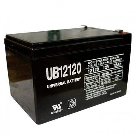 12 Volt 12 ah Fire Alarm Battery replaces Cooper Wheelock BAT1212