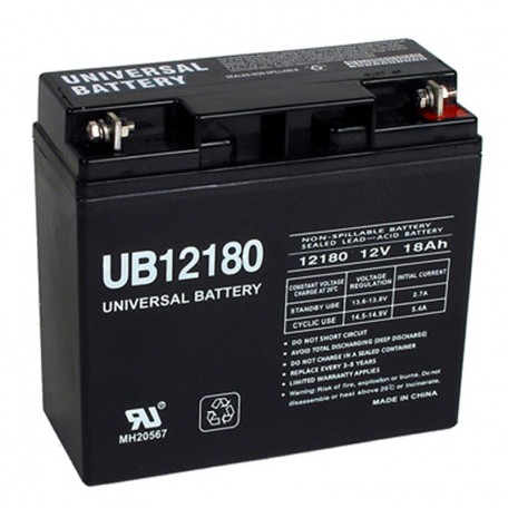 12 Volt 18 ah Fire Alarm Battery replaces GS Portalac PE12V17