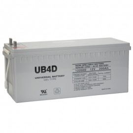12 V, 200 Ah Group 4D Deep Cycle GEL RV Recreational Battery UB-4D