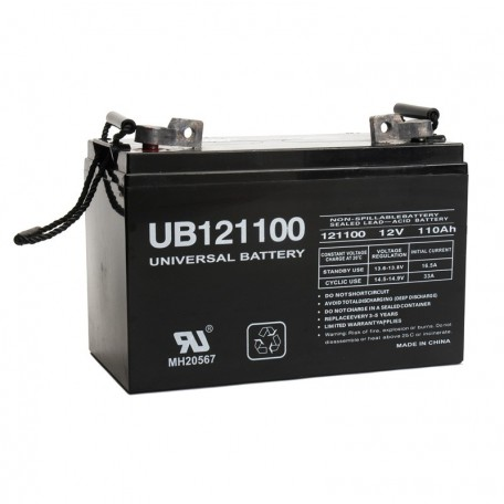 12 V, 110 Ah Deep Cycle AGM RV Recreational Battery UB121100