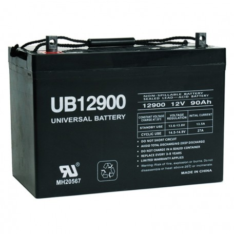 12 V, 90 Ah Deep Cycle AGM RV Recreational Battery UB12900 Group 27