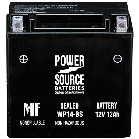 WP14-BS Motorcycle Battery replaces 65948-00 for Harley Davidson