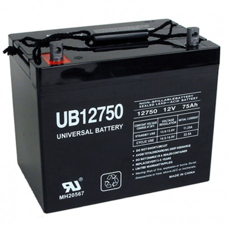 12 Volt 75 ah Deep Cycle AGM Solar Battery also replaces 69 ah, 84 ah