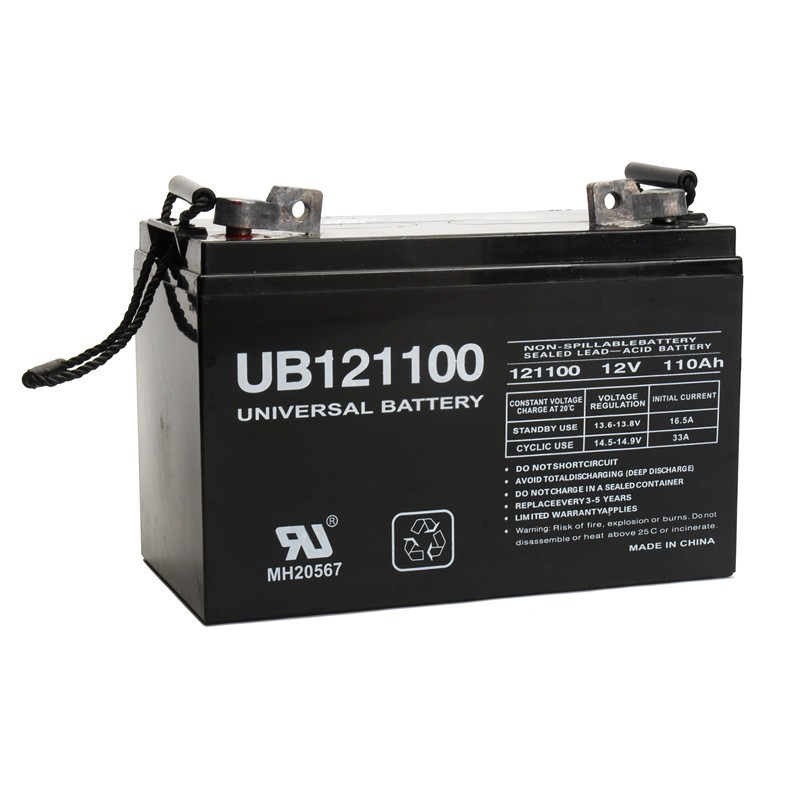 12v 110 ah solar battery replaces concorde pvx 12105t sun. Black Bedroom Furniture Sets. Home Design Ideas