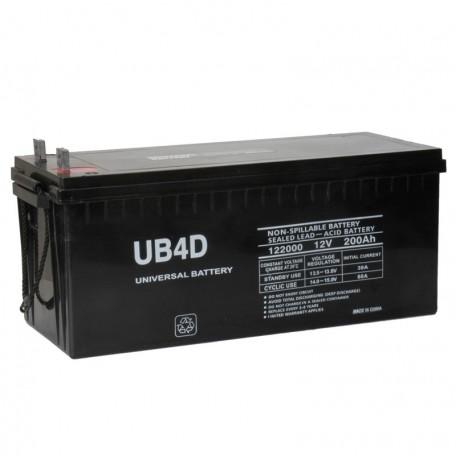 12 V, 200 Ah 4D Deep Cycle AGM Solar Battery UB-4D also replaces 210 ah