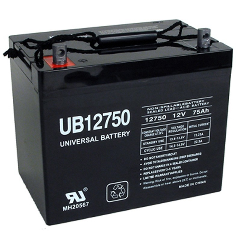 12 volt 75 ah ub12750 wheelchair mobility power chair battery replaces 12v 70ah 80ah. Black Bedroom Furniture Sets. Home Design Ideas