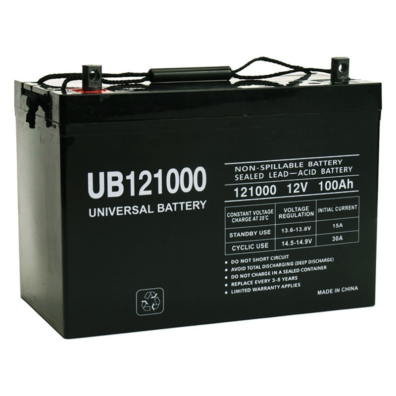 12 volt 100 ah 12v 100a ub121000 wheelchair mobility battery. Black Bedroom Furniture Sets. Home Design Ideas