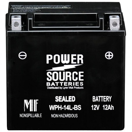 WPH14L-BS Motorcycle Battery replaces 65958-04 for Harley