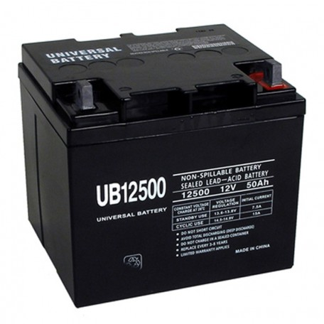 12 Volt 50 ah Fire Alarm Battery replaces 40ah Mircom BA-140