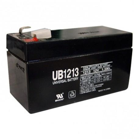 12 Volt 1.3 ah Fire Alarm Battery replaces 1.2ah Edwards EST 12V1A2