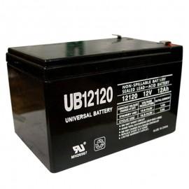 12 Volt 12 ah Fire Alarm Battery replaces Power-Rite PRB1212