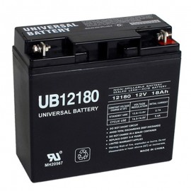 12 Volt 18 ah Fire Alarm Battery replaces Mircom BA-117