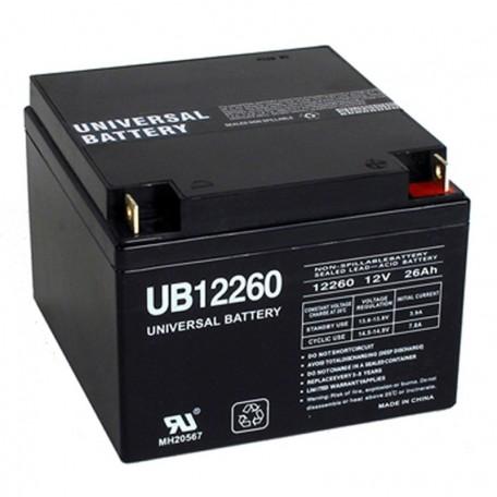 12 Volt 26 ah Fire Alarm Battery replaces Mircom BA-124