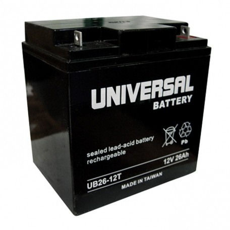 12 Volt 26 ah Fire Alarm Battery replaces 12v GE Security 12V24A