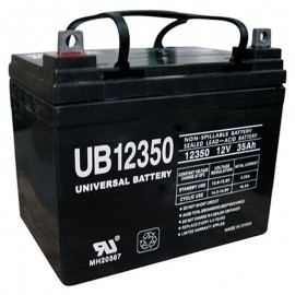 12v U1 Wheelchair Battery replaces 36ah Shoprider 109101-88107-36P