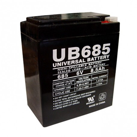 6 Volt 8.5 ah Fire Alarm Battery replaces 8ah Edwards EST 6V8A
