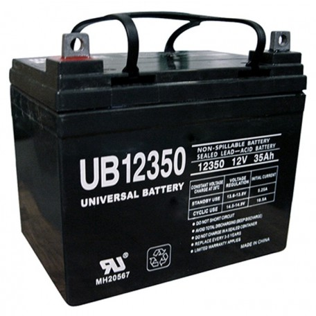 12 Volt 35ah U1 Wheelchair Scooter Battery replaces EverOn EVA12-33j