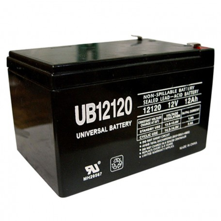 12 Volt 12 ah Wheelchair Scooter Battery replaces Tysonic TY-12-12