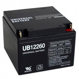 12v 26 ah Wheelchair Battery replaces 24ah Douglas Guardian DG12-24