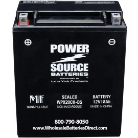 Power Source WPX20CH-BS 18ah 370cca AGM Motorcycle Battery FTZ16-BS