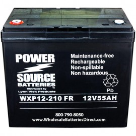 WXP12-210FR 55 ah Ultra High Rate 10 year design UPS Backup Battery