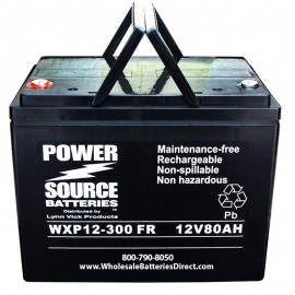 WXP12-300FR 80 ah Ultra High Rate 10 year design UPS Backup Battery