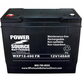 WXP12-490FR 140 ah Ultra High Rate 10 year design UPS Backup Battery