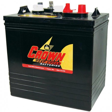 Crown CR-235 CR 235 6 volt 235 ah GC2 Deep Cycle Wet Solar Battery on