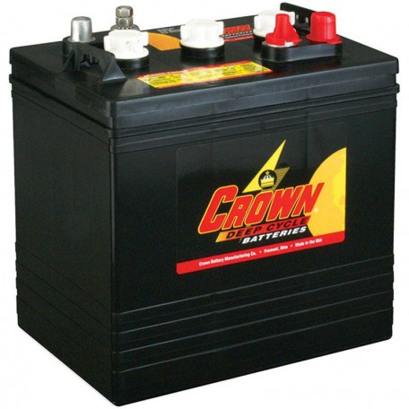 Crown CR-240 CR 240 6 volt 240 ah GC2 Deep Cycle Wet Solar Battery on