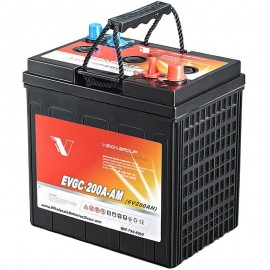 6 volt 200ah EVGC-200A-AM Sealed AGM Floor Scrubber Sweeper Battery