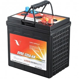 6 volt 220ah EVGC-220A-AM Sealed AGM Floor Scrubber Sweeper Battery