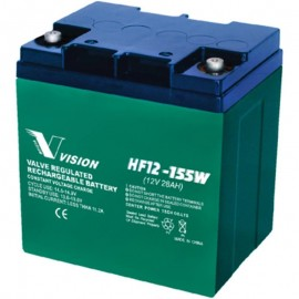 HF12-155W High Rate Flame Retardant 12v 28 ah SLA AGM Vision Battery