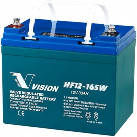 HF12-165W High Rate Vision U1 Long Life 12v 33ah SLA Backup Battery