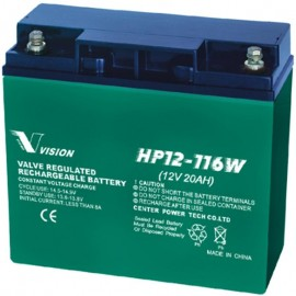 HP12-116W High Rate UPS Flame Retardant AGM 12v 20ah Vision Battery
