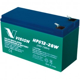 HPS12-28W High Rate Flame Retardant SLA AGM 12v 7ah F2 Vision Battery
