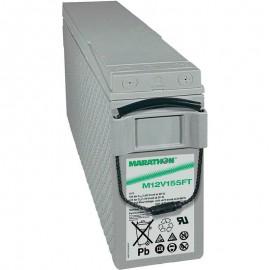 GNB Marathon M12V155FT 12v 155ah Front Access Terminal Telecom Battery