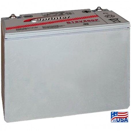 GNB Sprinter S12V500F S12V500 High Rate 12 volt Sealed AGM Battery