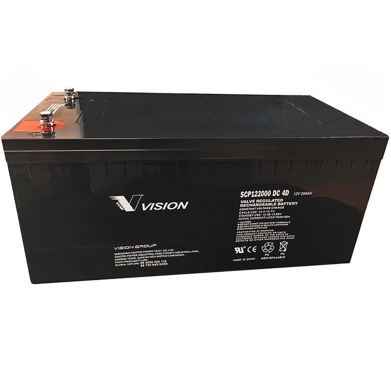 12 volt 200ah 4d scp122000 deep cycle sealed agm solar battery. Black Bedroom Furniture Sets. Home Design Ideas