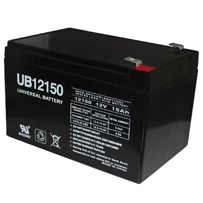 12 Volt 15ah Ub12150 Electric Scooter Battery Replaces 14ah
