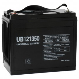 12v 135ah UPS Battery replaces Gruber Power GPS 12-475, GPS12-475