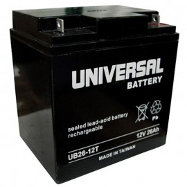 12v 26ah UB12260T UPS Battery replaces 28ah Power PM12-28, PM 12-28