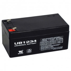 12 Volt 3.4 ah UB1234 UPS Battery replaces 3ah CSB GH1230, GH 1230