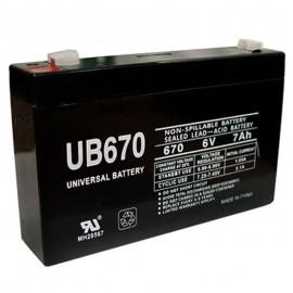 6 Volt 7 ah UB670 UPS Battery replaces 7.2ah Vision CP672, CP 672