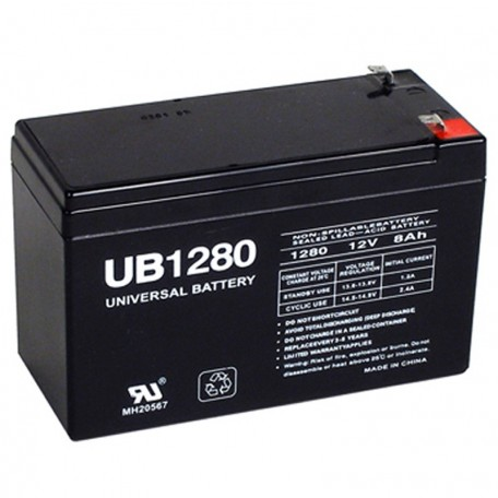 12 Volt 8 ah UPS Battery replaces 7ah Vision HP12-40W, HP 12-40W F2