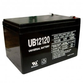 12 Volt 12ah UPS Backup Battery replaces Vision HP12-65W, HP 12-65W
